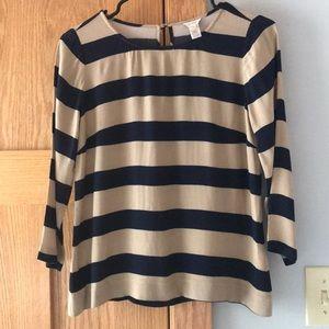 J. Crew 00 striped blouse